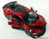 Burago 1:18 2018 Bugatti Divo, Metallic Red/Carbon Fiber