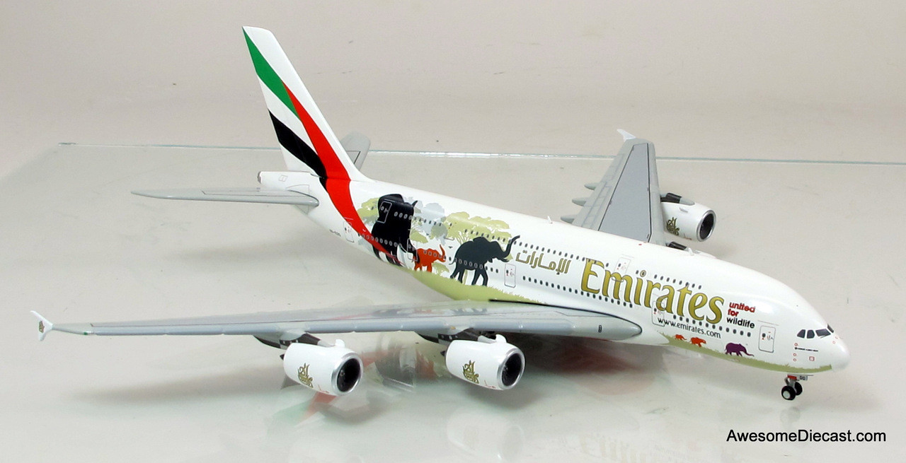 Gemini Jets 1:400 Airbus A380 - Emirates (Wildlife #2)