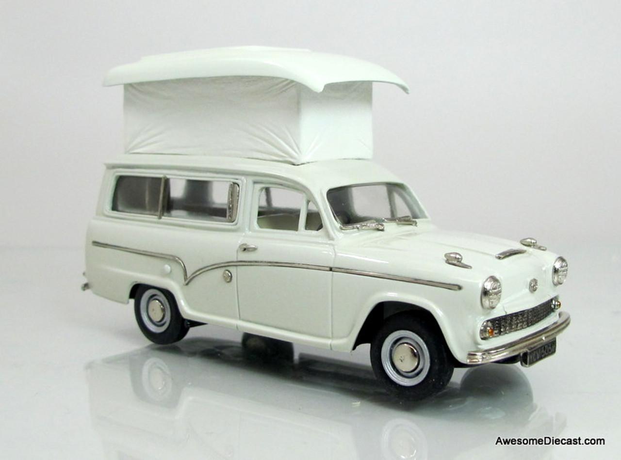 Brooklin Models 1:43 1969 Austin A60 Suntor Camper Van- Snowberry White