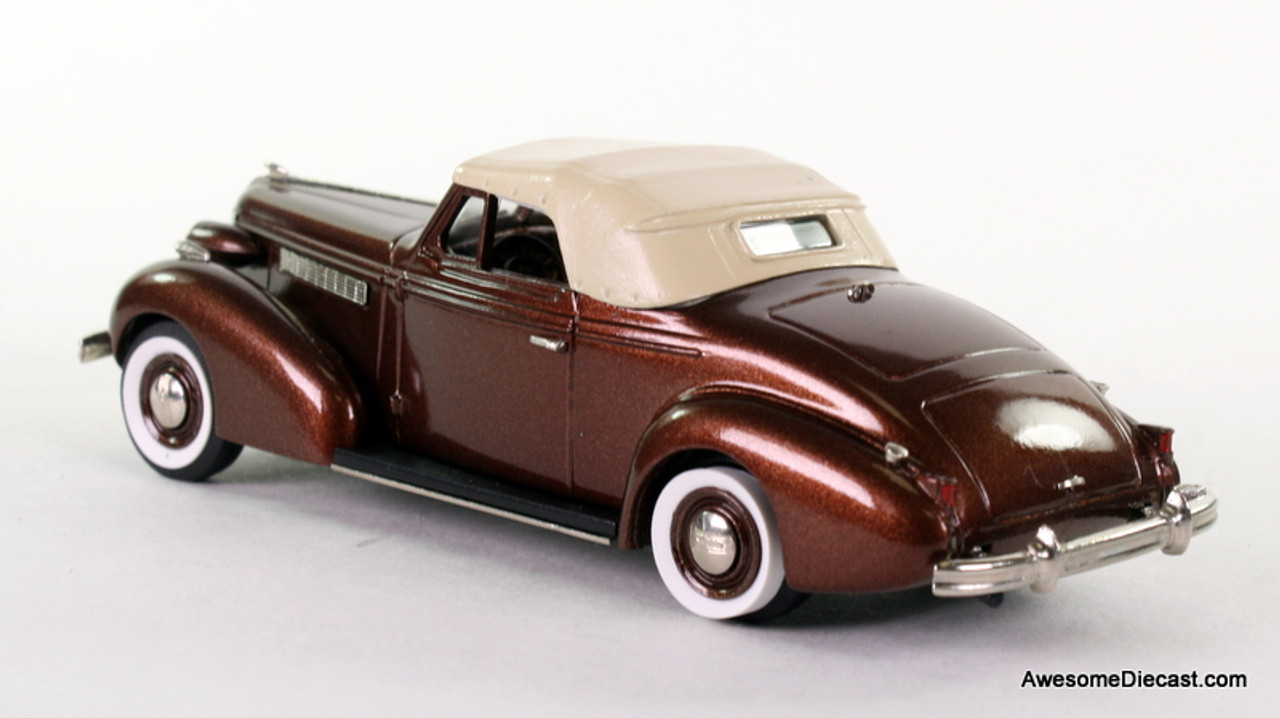 "Brooklyn Models 1:43 1937 Buick Special Convertible Coupe M 46-C ""Bengal Brown Poly"""