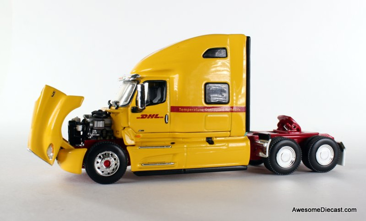 DCP 1:64 2018 International LT w/ Tri-Axle: DHL / Temperature Controlled Network 34207 Tractor