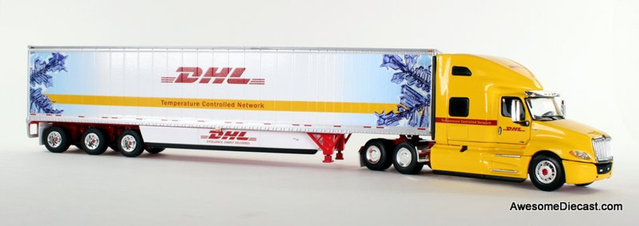 DCP 1:64 2018 International LT w/ Tri-Axle: DHL / Temperature Controlled Network 34207 Front View