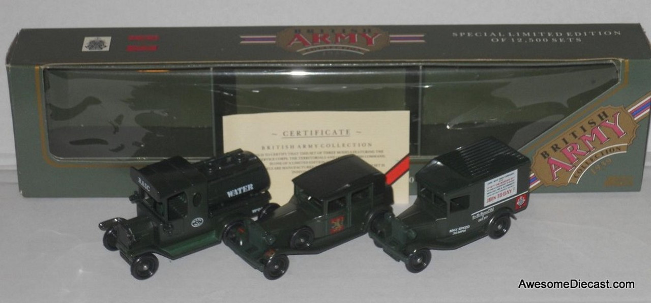 Lledo 1939 British Army Collection 3 Vehicle Set, Green