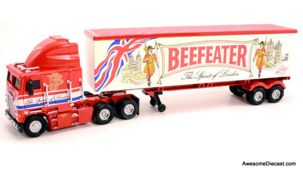 Only One! Matchbox 1:58 Freightliner Tractor/Trailer 'Beefeater Gin'
