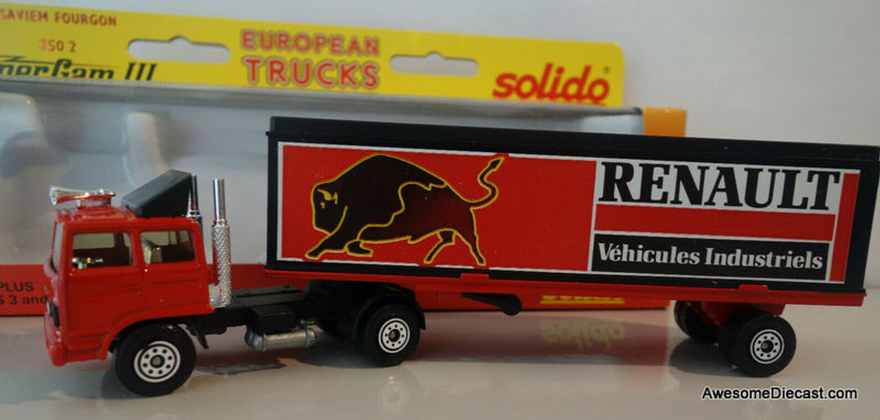 ONLY ONE! Solido 1:64 Saviem Fourgon Tractor Trailer: Renault Car Parts