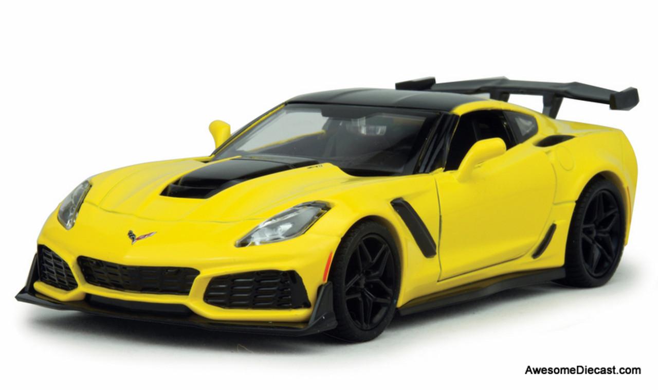 CHEVROLET Corvette ZR1-2019 yellow black MotorMax 1:24