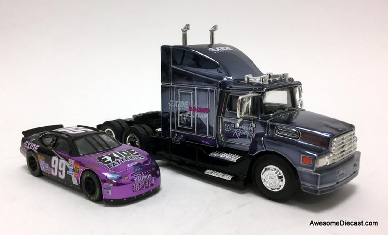Racing Champions 1:64 NASCAR  Ford LN9000 w/ Car Transporter Trailer: Team Exide / Jeff Burton  Team, Jeff Burton