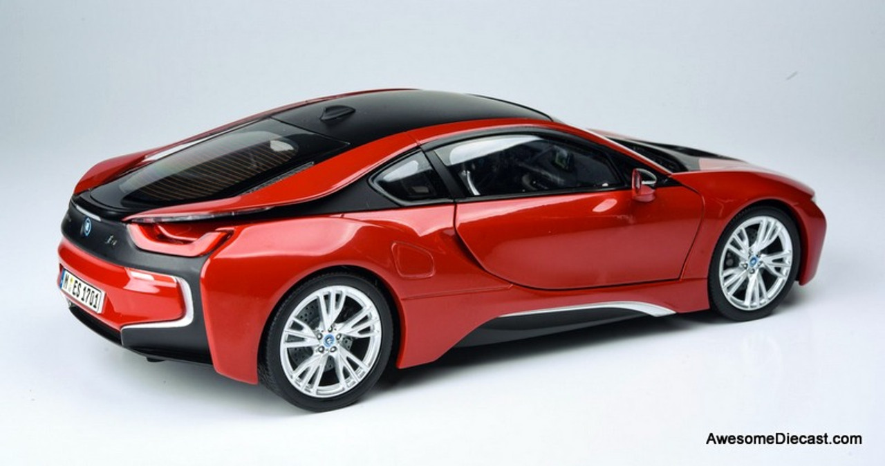 Paragon Models 1:18 BMW i8, Red/Black