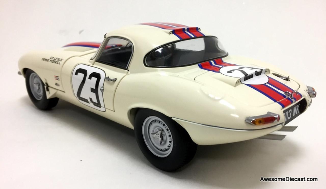 Paragon Models 1:18 1963 Jaguar E-Type Lightweight Qvale Sebring #23
