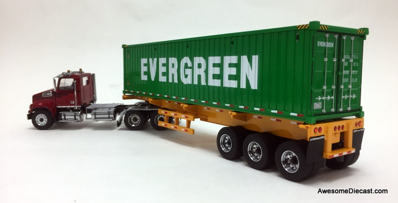 Diecast Masters 1:50 Western Star 4700 Day Cab And Trailer With 40' Dry Goods Sea Container