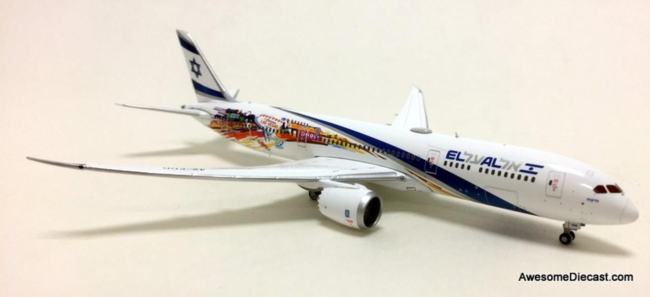 Gemini Jets 1:400 Boeing 787-9: El Al Airlines, Las Vegas/ San Francisco Livery