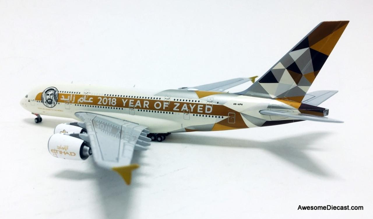 "Gemini Jets Etihad /""Year of Zayed/"" Airbus A380 1//400"