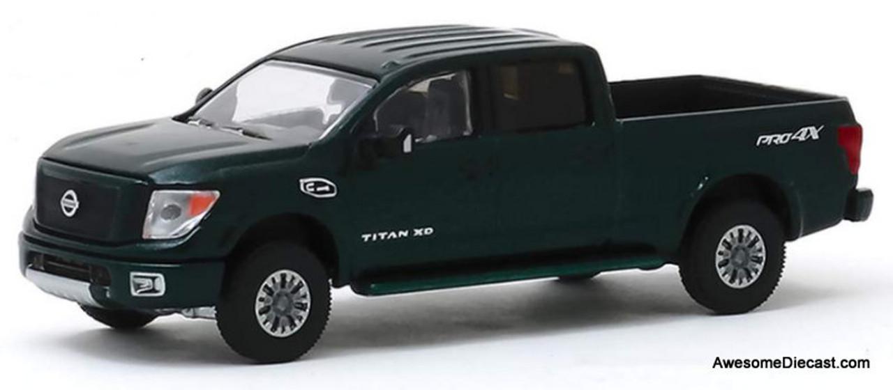 Greenlight 1:64 2019 Nissan Titan XD PRO-4X, Metallic Green