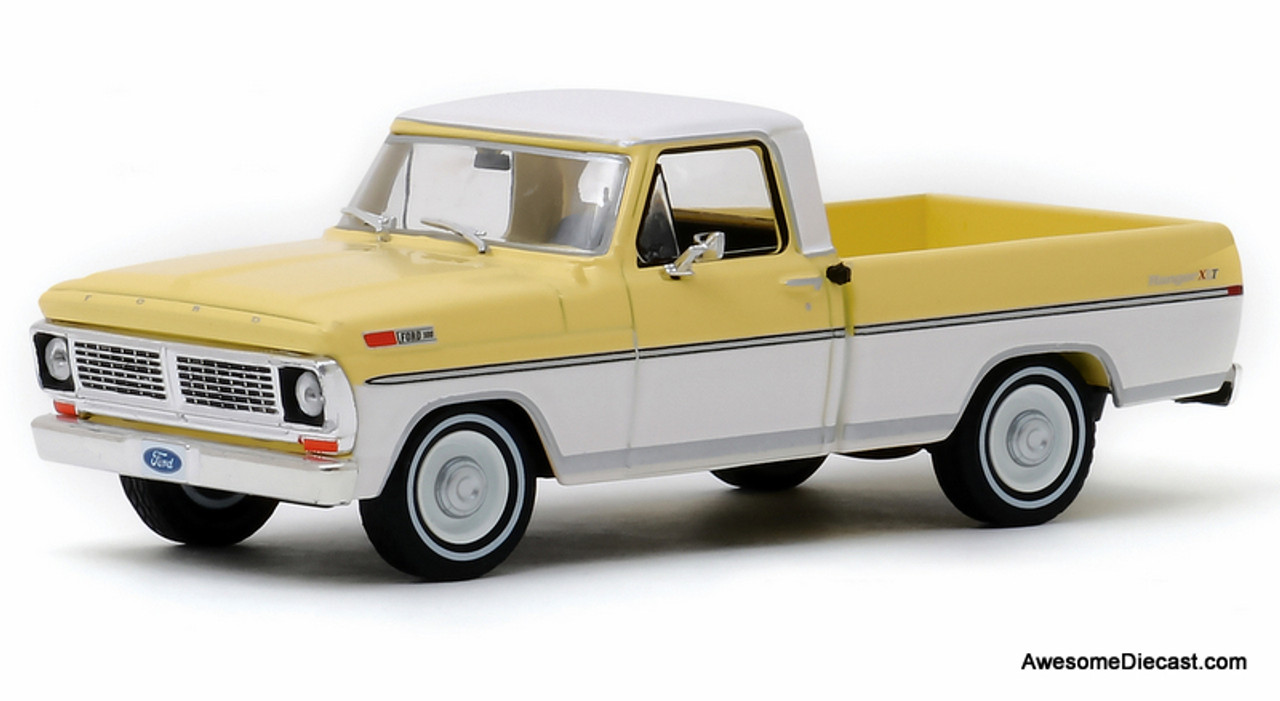 Greenlight 1:43 1970 Ford F-100 Pick Up, Yellow/White