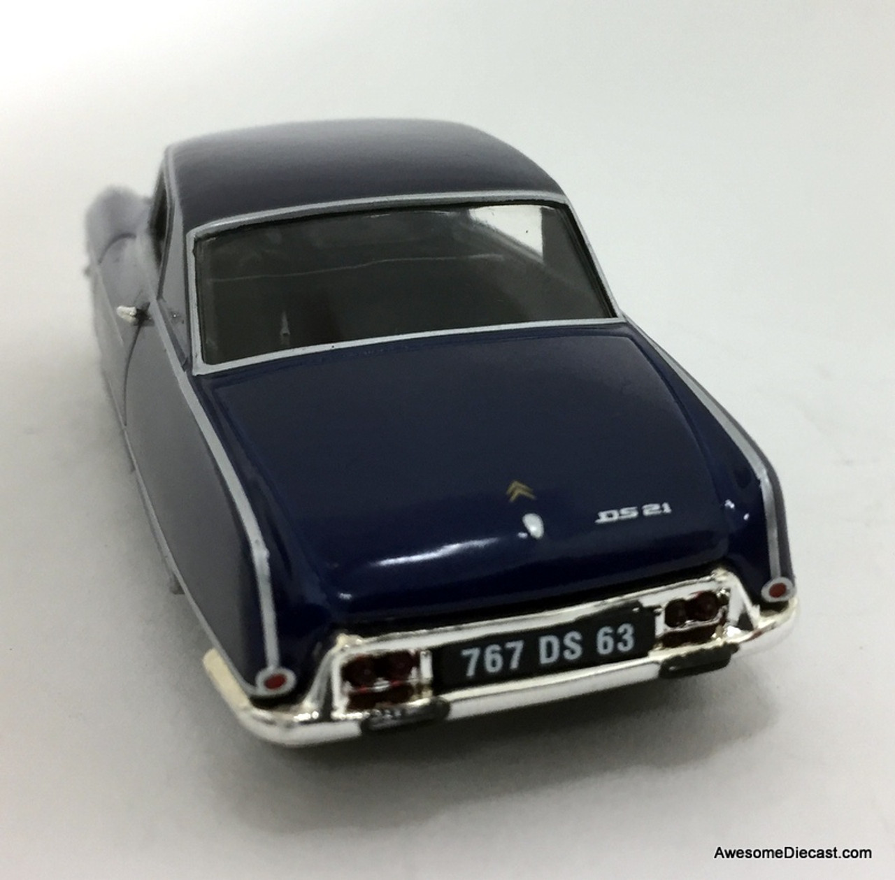"""ATLAS//NOREV DIECAST 1//43 1967 CITROEN DS 21 DS21 COUPE /""""LE DANDY/"""" METALLIC BLUE"""