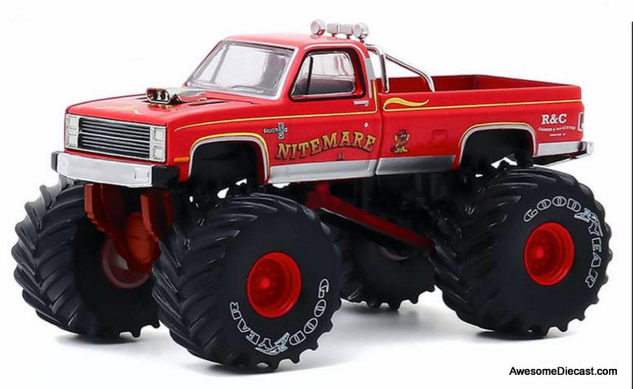 Greenlight 1 64 1986 Chevrolet Silverado Monster Truck Nitemare 11