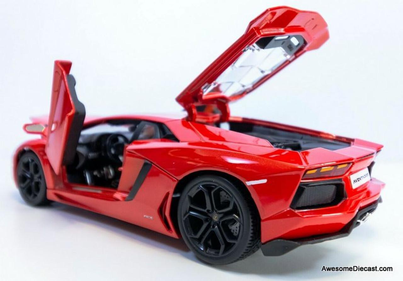 Maisto 1 18 Lamborghini Aventador Coupe Red