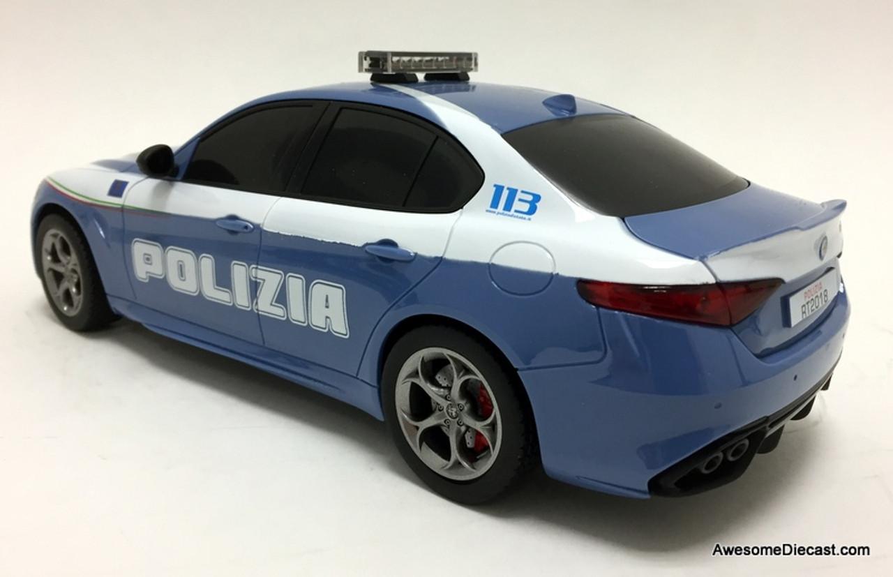 Reel Models 1:18 Radio Controlled 2015 Alfa Romeo Giulia Quadrifoglio: Italian State Police