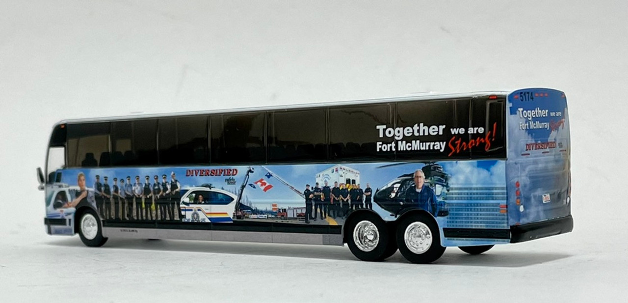 Iconic Replicas 1:87 Prevost X3-45: Diversified Transportation - Ft. McMurray Strong