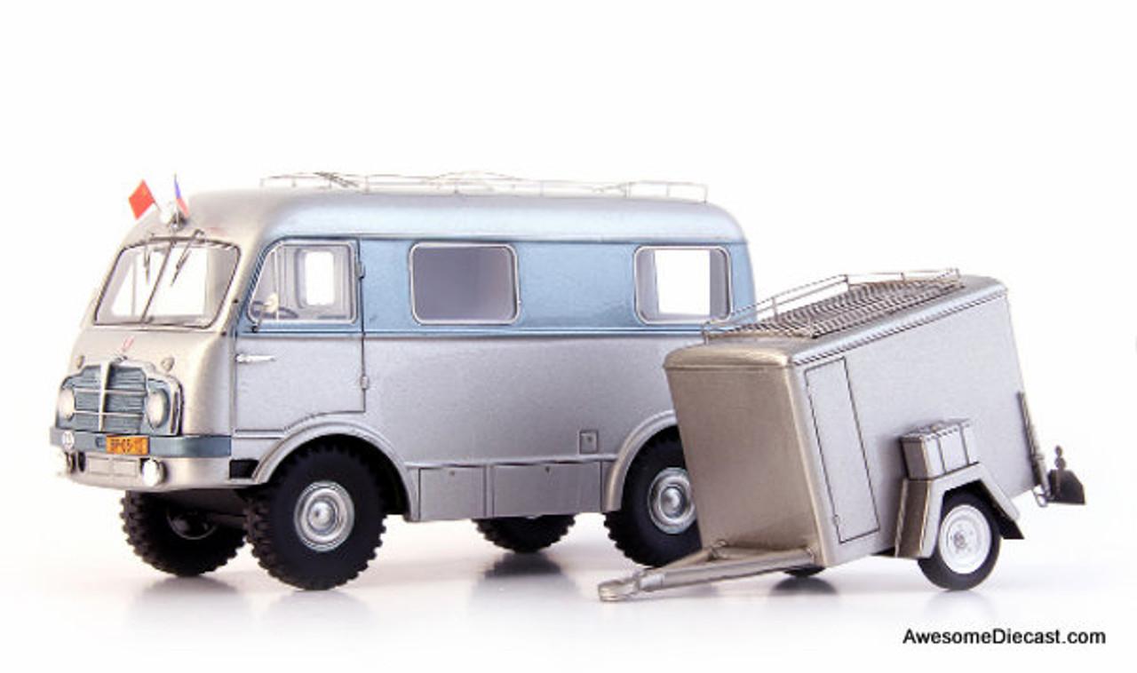 AutoCult 1:43 Tatra T805H Mini Van w/Trailer