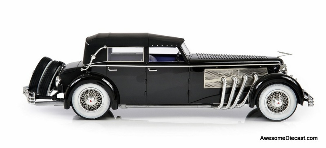 Esval 1:18 1937 Duesenberg SJ Town Car 2405 by Rollson for Mr Rudolf Bauer: Roof Up Version