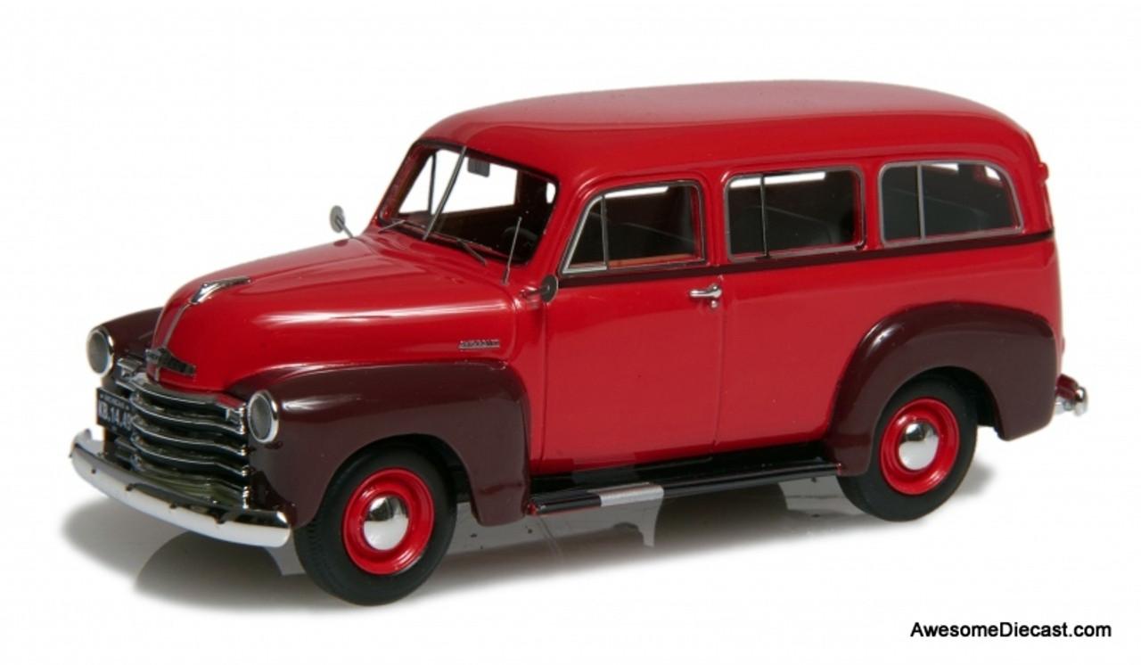 Esval 1:43 1952 Chevrolet 3100 Suburban, Red/Maroon