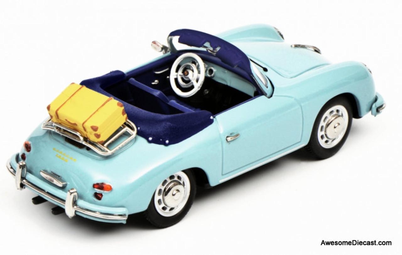 Schuco 1 43 Porsche 356a Convertible Light Blue