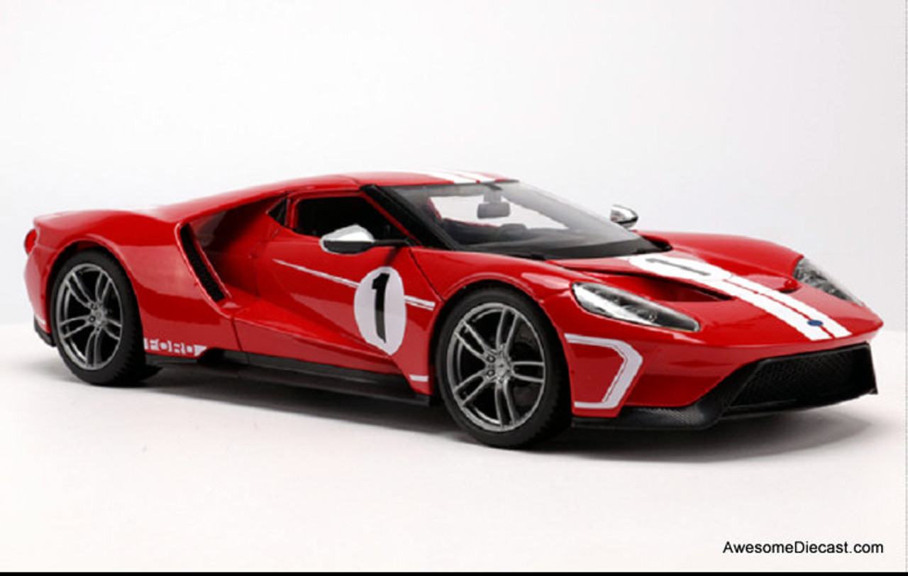 Maisto 1:18 2018 Ford GT: Heritage Edition, Race Red