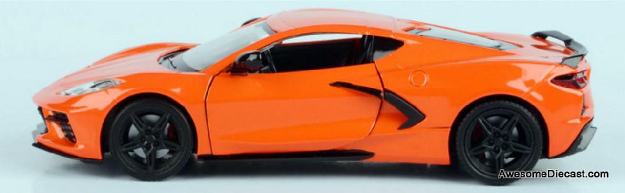 Motor Max 1:24 2020 Chevrolet Corvette C8, Orange