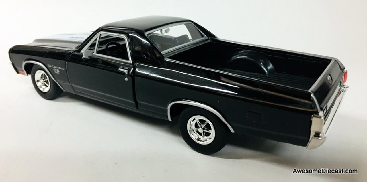 Motormax Model KOMPATIBEL MIT Chevrolet EL Camino SS 396 1970 RED W//Black Stripes 1:24 DIECAST MTM79347R