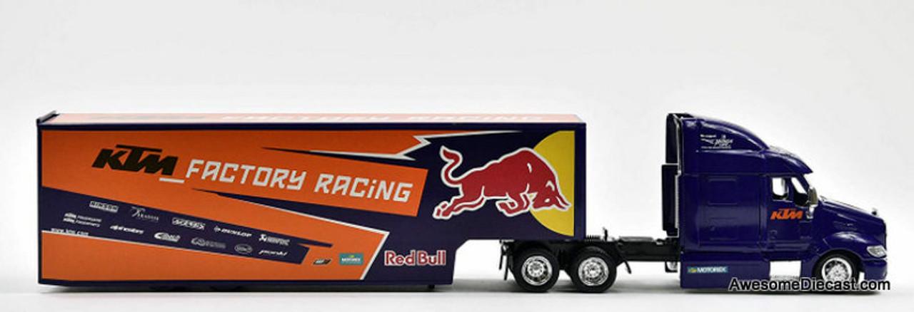 New Ray 1:43 Peterbilt 387 Sleeper w/Trailer: KTM Factory Racing, Red Bull