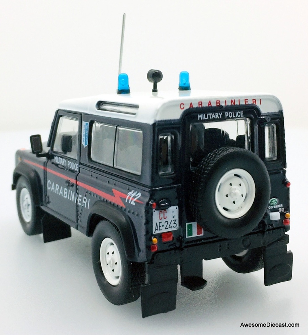 Hatchette 1:43 1995 Land Rover Defender 90: Italian Military Police