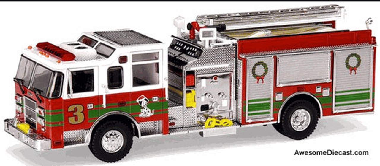 Code 3 1:64 Pierce Dash Top Mount Pumper: Special Christmas Edition