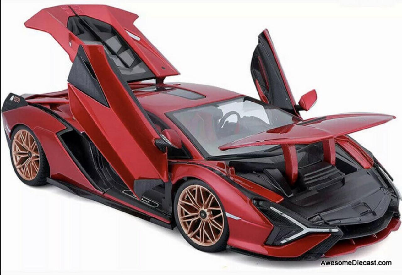 Maisto 1:18 2020 Lamborghini Sian FKP 37, Metallic Red
