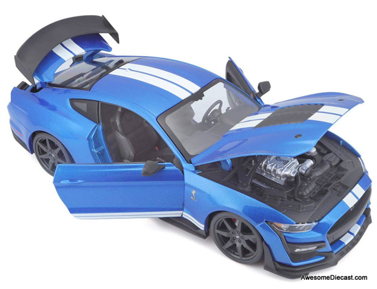 Maisto 1:18 2020 Ford Mustang Shelby GT500, Velocity Blue