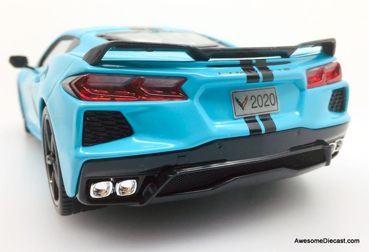 Maisto 1:18 2020 Chevrolet Corvette C8 Coupe, Light Blue