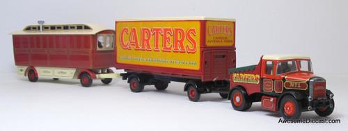 Corgi 1:50 Scammell Highwayman Closed Pole Trailer & Caravan - Carter's