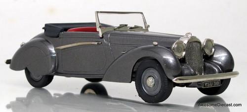 Lansdowne Models 1:43 1939 Lagonda V12 Rapide Drop Head Coupe, Gray