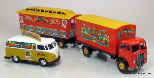 Corgi 1:50 ERF Box Van w/ Trailer & VW Van - Saddlers