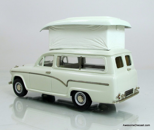 Brooklin Models 1:43 1969 Austin A60 Suntor Camper Van- Snowberry White