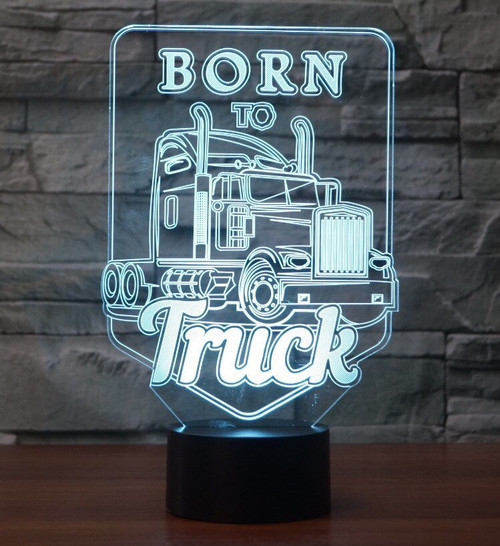 Iconic Replica 3D Display Lamp: Born To Truck!