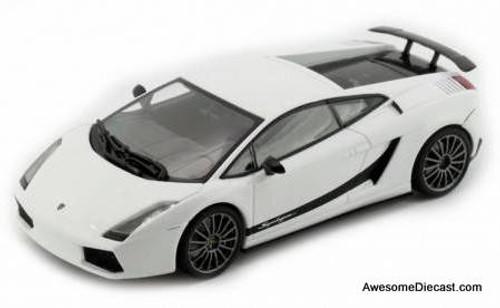 AutoArt 1:43 2010 Lamborghini Gallardo Superleggera: Metallic White