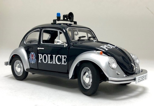 Iconic Replica 1:18 1968 VW Beetle Radio Patrol Car: Singapore Police Force