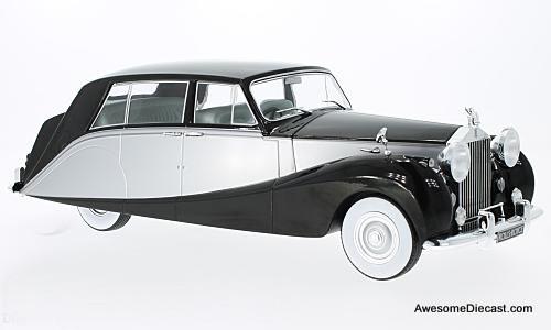 MCG 1:18 1956 Rolls Royce Silver Wraith Empress By Hooper (Black/Silver)