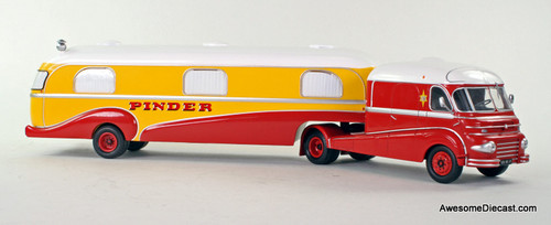Direkt Collections 1:43 Ford F798W tractor w/ camper trailer: Pinder Circus