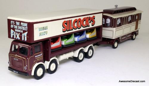 Corgi 1:50 Leyland Dodgem Truck & Caravan Set: Silcock's of Warrington
