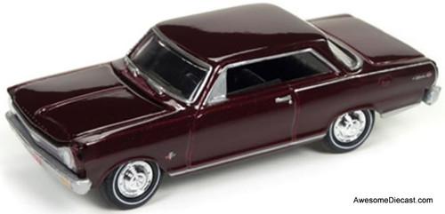 Johnny Lightning 1:64 1965 Chevrolet Nova SS, Madeira Maroon