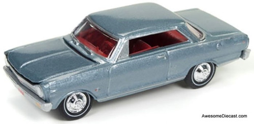 Johnny Lightning 1:64 1965 Chevrolet Nova SS, Glacier Gray