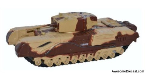 Oxford Diecast 1:76 Churchill Tank MKIII Kingforce - Major King