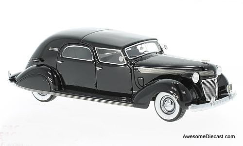 Neo 1:43 1937 Chrysler Imperial C-15 Le Baron Town Car, black